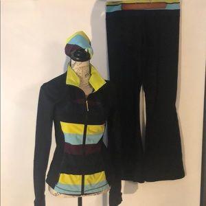 Lululemon Groove Pant, jacket and headband
